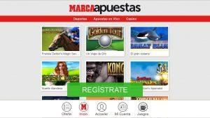 Casino móvil homepage