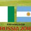 Banderas Nigeria y Argentina